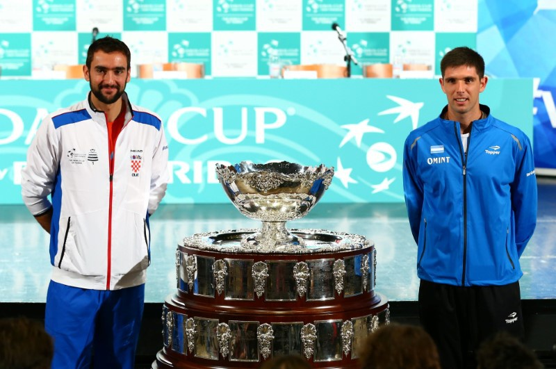 Croatia one win away from Davis Cup victory on final day