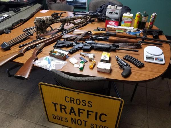 Guns, Meth Seized In Van Buren County