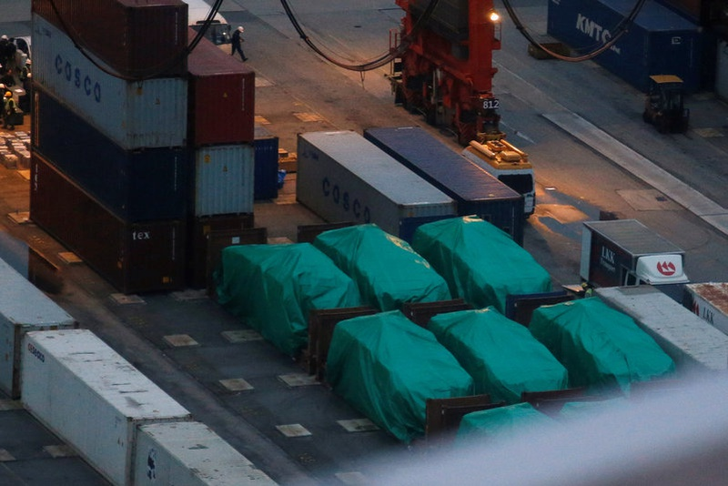 Singapore military vehicles seized in Hong Kong