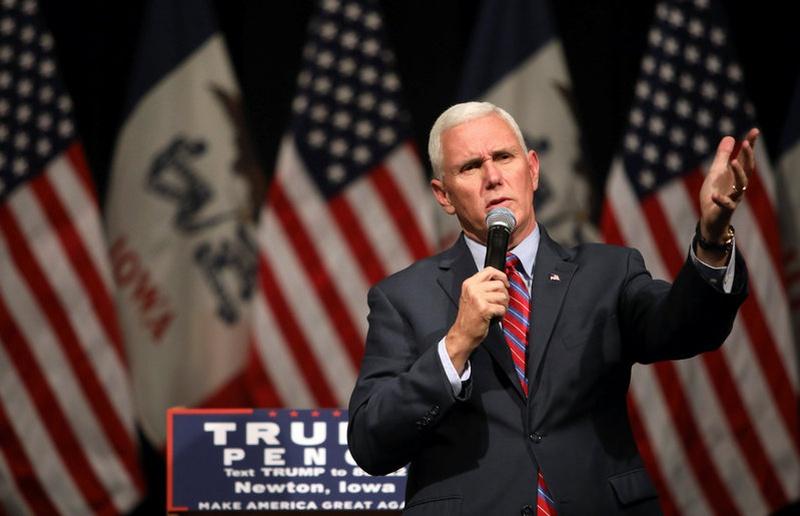 Pence says White House press secretary doesn't speak for him