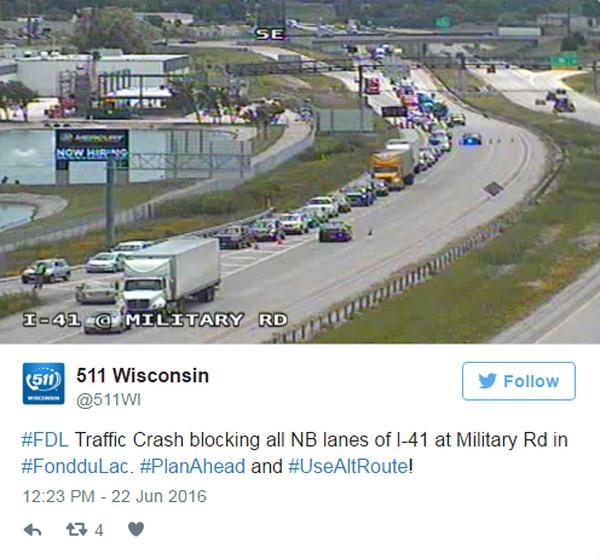 Man, Child Killed in I-41 Crash