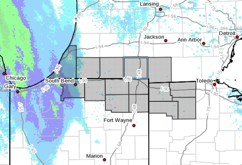 NWS: Light snow expected Saturday night through most of Sunday