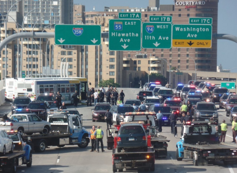 Troopers arrest 41 blocking highway traffic in Minneapolis