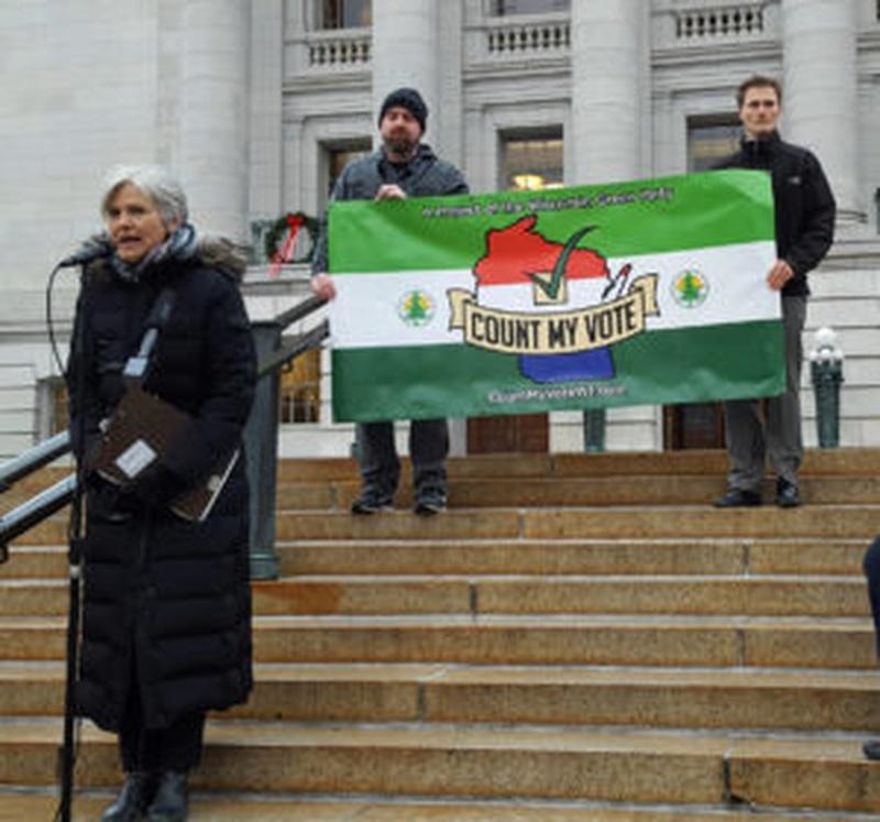 Jill Stein Rallies in Madison