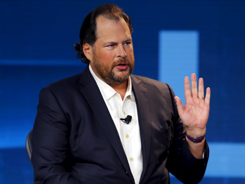 Salesforce won't buy Twitter, which drives its stock price down
