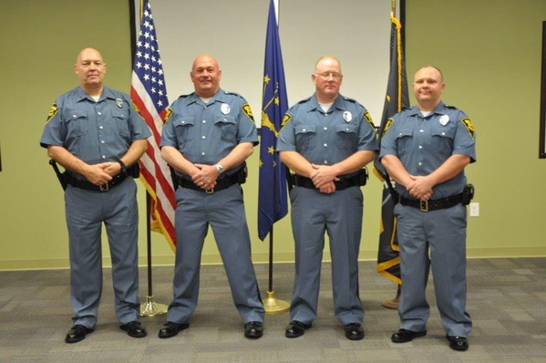 Indiana state police graduate four motor carrier for Wright motors evansville in