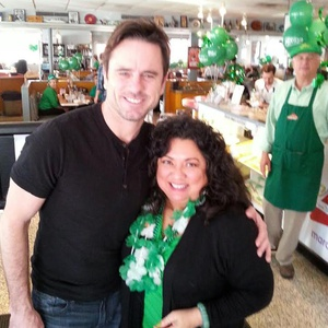 "Anna Marie from Mix 92.9 pictured with Charles Esten who plays Deacon on the hit T.V. show, ""Nashville."""