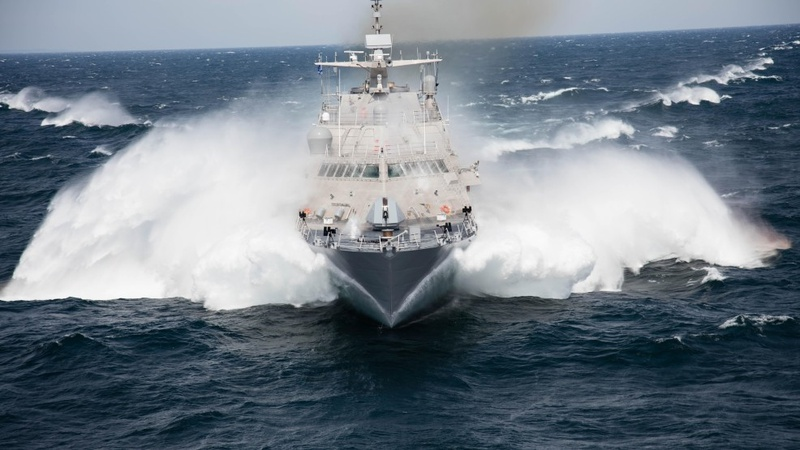 Navy launches new littoral combat ship in Wisconsin