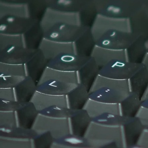 A computer keyboard (Photo from: FOX 11/YouTube).