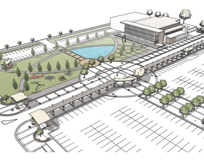 Holland lands state bond for civic center place project for Architectural engineering concepts