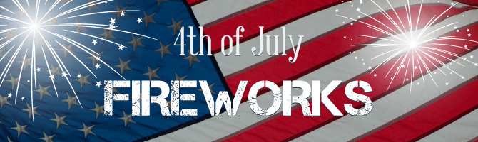 4th of July Fireworks Banner