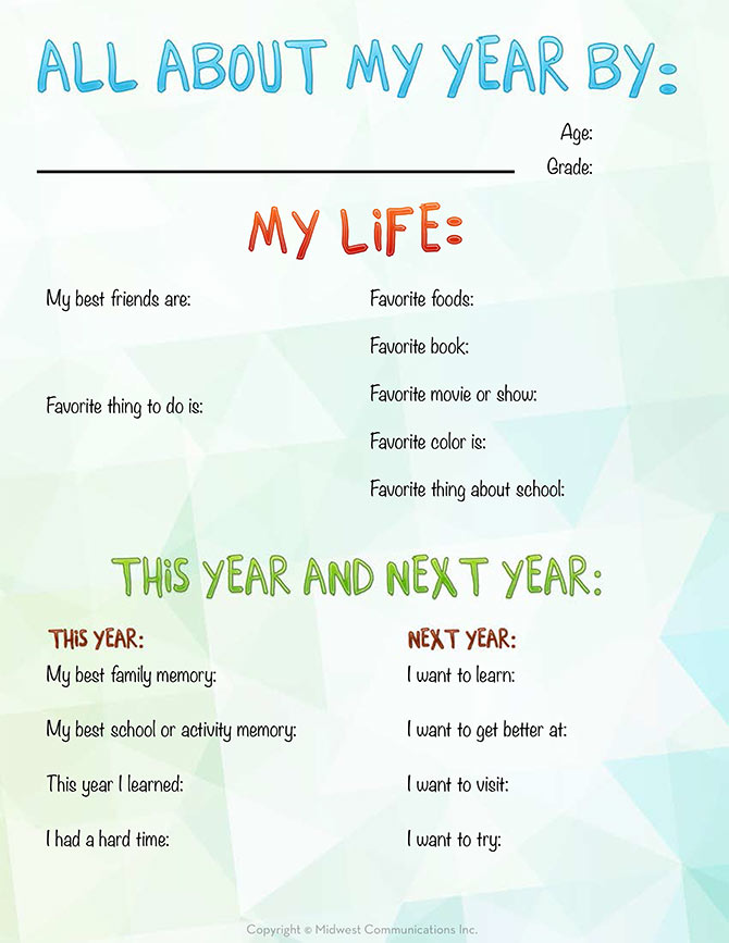 Blank Calendar Kid Friendly : New years resolutions template for kids search results