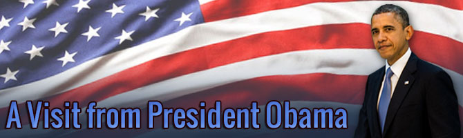 A Visit from President Obama