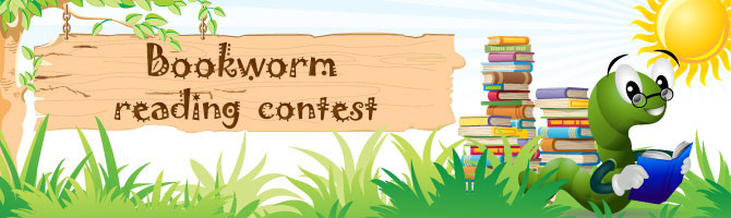 Bookworm Reading Contest Banner