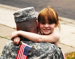Soldier with Child image