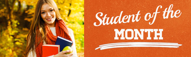 Student of the Month Header