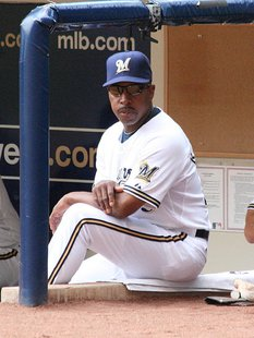 Willie Randolph sits in the Brewers dugout during a game at Miller Park By Spaluch1 (Own work) [CC-BY-SA-3.0 (http://creativecommons.org/licenses/by-sa/3.0) or GFDL (http://www.gnu.org/copyleft/fdl.html)], via Wikimedia Commons