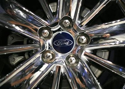 A wheel of a 2010 Ford Taurus is pictured during a Ford event in New York, August 6, 2009. REUTERS/Brendan McDermid