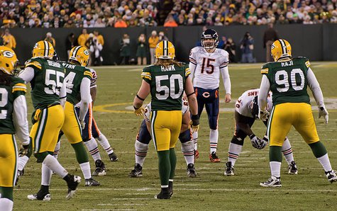 Chicago Bears vs. Green Bay Packers at Lambeau Field on December 25, 2011. Photo by Mike Morbeck. By Mike Morbeck (Flickr: [1]) [CC-BY-SA-2.0 (http://creativecommons.org/licenses/by-sa/2.0)], via Wikimedia Commons