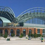 Exterior view of Miller Park in Milwaukee, WI. By Greg Hume (Own work) [CC-BY-SA-3.0 (http://creativecommons.org/licenses/by-sa/3.0)], via Wikimedia Commons