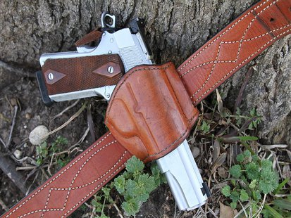 A Belt Slide Holster By Michael E. Cumpston (Own work) [CC-BY-SA-3.0 (http://creativecommons.org/licenses/by-sa/3.0)], via Wikimedia Commons