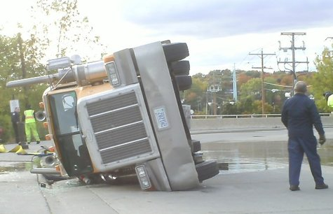 An 18-wheeler spilled 48,000 pounds of cane molasses in downtown Wausau Friday October 9.  The accident happened as the truck was rounding the corner near 1st and Forest Streets.