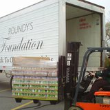 The Roundy's Foundation delivers pallets full of non-perishible food to 5 local food pantries; Oct. 14. 2009