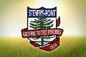 The crest of the City of Stevens Point.
