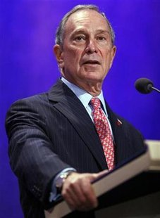 New York Mayor Michael Bloomberg speaks at the Clinton Global Initiative in New York September 23, 2009. REUTERS/Chip East