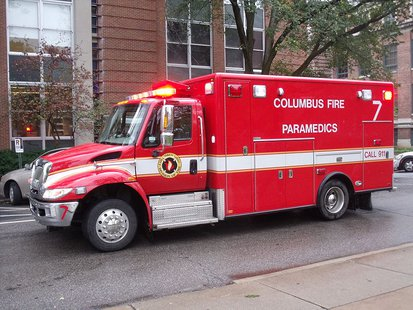 Columbus Fire Department Medic 7 By Ibagli (Own work) [Public domain], via Wikimedia Commons