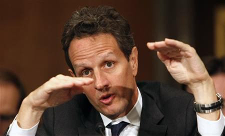 "Treasury Secretary Timothy Geithner testifies before the Senate Foreign Relations Committee hearing on ""The U.S. and the G-20: Remaking the International Economic Architecture "" on Capitol Hill in Washington November 17, 2009. REUTERS/Kevin Lamarque"