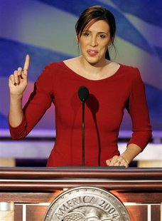 Alexandra Kerry, daughter of former U.S. presidential candidate and Senator John Kerry, speaks at the 2004 Democratic National Convention in Boston, Massachusetts, in this July 29, 2004 file photo. REUTERS/Mike Segar/Files