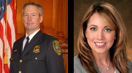 Milwaukee Police Chief Ed Flynn and Jessica McBride