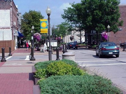 The corner of 3rd and McClellan Streets in Downtown Wausau