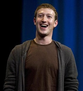 Mark Zuckerberg, founder and CEO of Facebook, delivers a keynote address at the company's annual conference in San Francisco, California July 23, 2008 file photo. REUTERS/Kimberly White