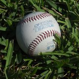A baseball on grass By ChristianMan16 (Own work) [CC-BY-SA-3.0 (http://creativecommons.org/licenses/by-sa/3.0) or GFDL (http://www.gnu.org/copyleft/fdl.html)], via Wikimedia Commons