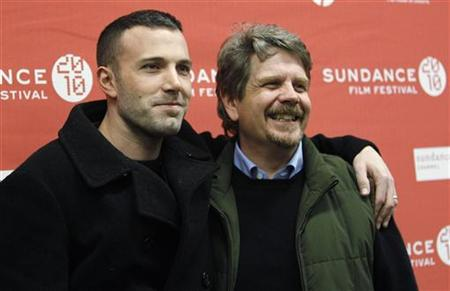 "Cast member Ben Affleck (L) poses with director of the movie John Wells at the premiere of ""The Company Men"" during the 2010 Sundance Film Festival in Park City, Utah January 22, 2010. REUTERS/Mario Anzuoni"