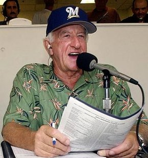 Brewers announcer Bob Uecker.