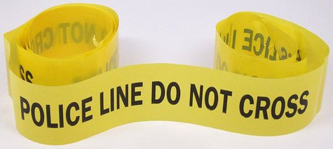 "This ""Police Line Do Not Cross"" tape was picked up at a protest against the construction of a new portion of Highway 55, otherwise named Hiawatha Avenue, in Minneapolis. The protests over the expansion of Highway 55 came to a head on December 20, 1998. By Minnesota Historical Society (Flickr: ""Police Line"" Tape) [CC-BY-SA-2.0 (http://creativecommons.org/licenses/by-sa/2.0)], via Wikimedia Commons"