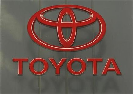 The logo of Toyota Motor Corp's is pictured outside Tsutsumi plant, where the Prius hybrid is assembled in Toyota, central Japan February 8, 2010. REUTERS/Yuriko Nakao