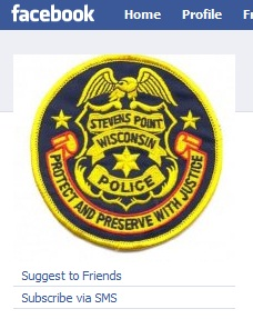 A screenshot of the Stevens Point police department's Facebook page
