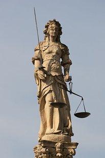 Fountain of Justice (Fontaine de la Justice) in Cudrefin, Switzerland