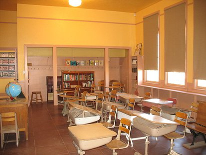 This is a classroom in the NRHP listed Rittenhouse Elementary School in Queen Creek, Maricopa County, Arizona By Gagegs (Own work) [CC-BY-SA-3.0 (http://creativecommons.org/licenses/by-sa/3.0)], via Wikimedia Commons