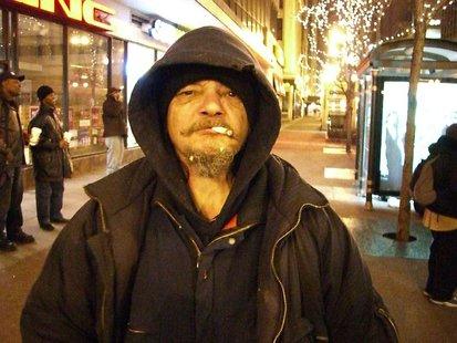 A photo of a homeless man in Chicago, Ill. By Kim Scarborough (Own work) [CC-BY-SA-2.5 (http://creativecommons.org/licenses/by-sa/2.5)], via Wikimedia Commons