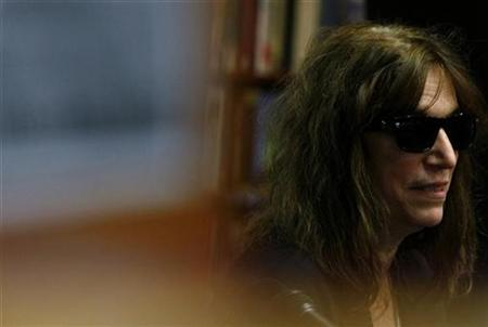 U.S. rock singer Patti Smith is seen at a book signing event in Melbourne October 10, 2008. REUTERS/Mick Tsikas