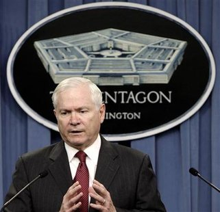 Secretary of Defense Robert Gates speaks during a news briefing on the new Nuclear Posture Review at the Pentagon in Washington April 6, 2010. REUTERS/Yuri Gripas