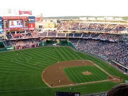 Nationals Park in Washington DC as the Brewers play the Nationals.