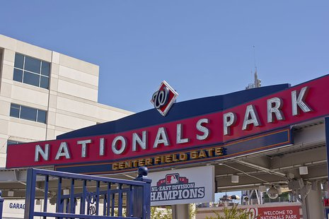Center field (main) gate at Nationals Park in Washington, D.C., in the United States. The stadium is home to the Washington Nationals, a team belonging to Major League Baseball. By Tim Evanson [CC-BY-SA-2.0 (http://creativecommons.org/licenses/by-sa/2.0)], via Wikimedia Commons