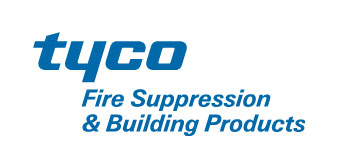 Logo of Tyco Fire Suppression and Building Products.