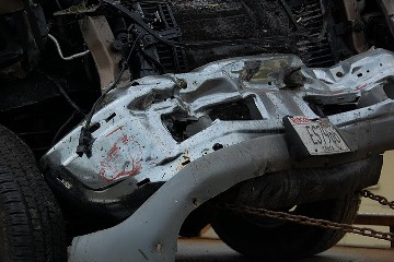 Damage from a car crash